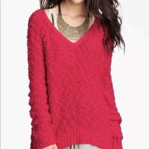 Free People Boucle Songbird Sweater Sz S